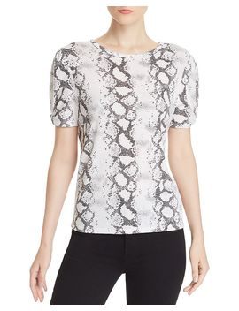 Victoria Puff Sleeve Snake Print Tee by Generation Love