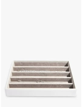 Stackers Classic 5 Section Jewellery Box, White by Stackers