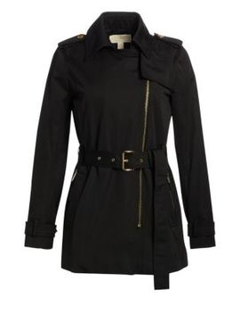 Asymmetrical Zip Trench Coat by Michael Michael Kors