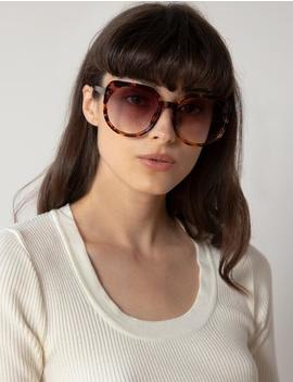Brown Oversize Sunglasses by Pixie Market