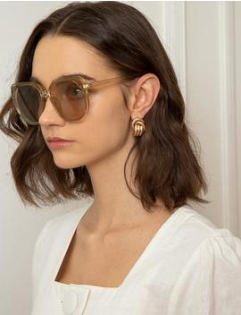 Yellow Translucent Oversize Sunglasses by Pixie Market
