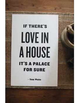 Si Il Y A L'amour Dans Une Maison, Impression Typographique, De L'abeille & Le Renard by Etsy