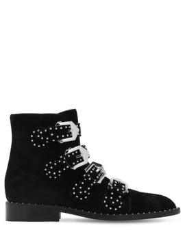 20 Mm Studded Suede Ankle Boots by Givenchy