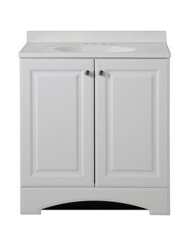 31 In. W Vanity In White With Cultured Marble Vanity Top In White by Glacier Bay