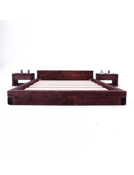 Pandon Bed Frame   Low Loft Rustic Bed Frame by Etsy