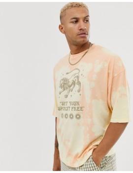 Asos Design – Oversize T Shirt Mit Batikdesign Und Löwenprint by Asos
