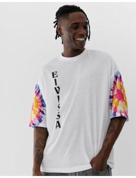 "Asos Design – Oversize T Shirt Mit Ärmeln In Batikoptik Und ""Ibiza"" Print by Asos"