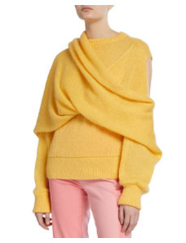 Colette Draped Mohair Sweater by Rejina Pyo