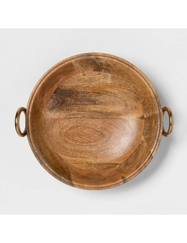 "Cravings By Chrissy Teigen 13"" Round Bowl With Aluminum Gold Handle by Cravings By Chrissy Teigen"