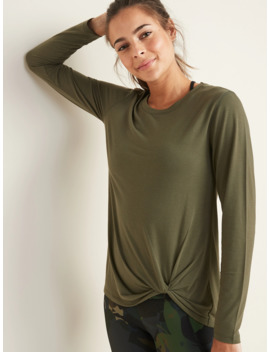 Relaxed Knotted Hem Performance Top For Women by Old Navy