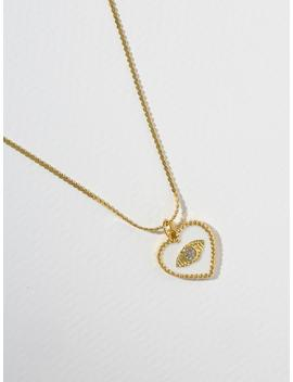 The Joelyn Heart Necklace   White by Vanessa Mooney