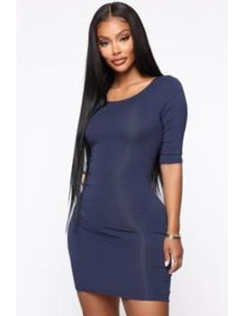 Saraiah Mini Dress   Navy by Fashion Nova