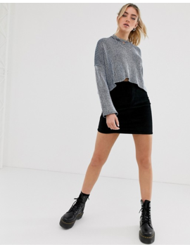 Noisy May Drop Shoulder Oversized Ribbed Sweater by Noisy May