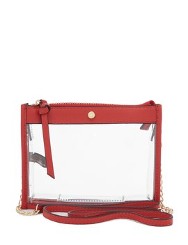 Clear Top Zip Stadium Crossbody by Kate Landry