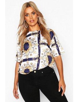 Plus Chain Print T Shirt Plus Chain Print T Shirt by Boohoo