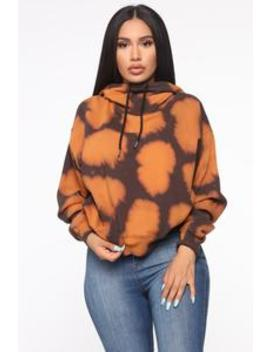 Keep My Vibe Hoodie   Brown/Combo by Fashion Nova