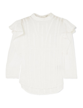 Anny Embroidered Cotton Voile Blouse by Isabel Marant Étoile