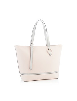 Light Pink Double Circle Detail Tote Bag by Faith