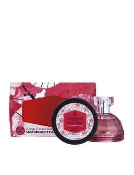 Japanese Cherry Blossom Strawberry Kiss Ed T Geschenkset by The Body Shop
