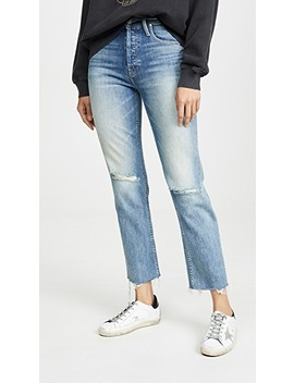 Mother Superior The Tomcat Ankle Fray Jeans by Mother