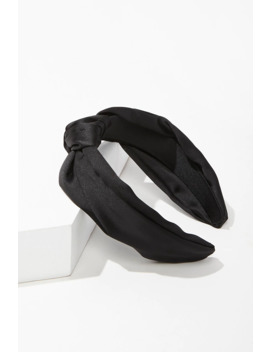 Knotted Satin Headband by Forever 21