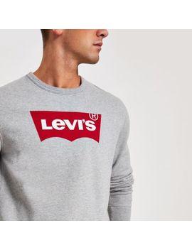 Levi's Grey Logo Long Sleeve Sweatshirt by River Island