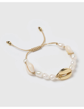 Amity Shell Freshwater Pearl Bracelet by Miz Casa And Co