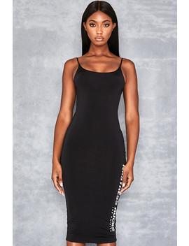 Black Slinky Dress With Logo by Mistress Rocks