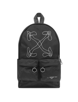 Off White Abstract Arrows Backpack by Off White