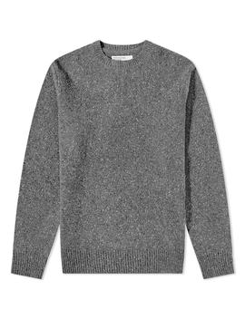 Universal Works Lambswool Fleck Crew Knit by Universal Works