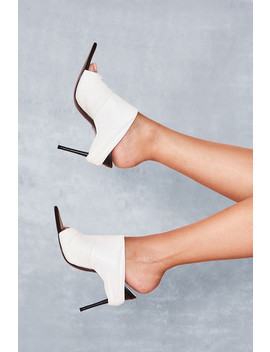 White Power Mesh Mules by Mistress Rocks