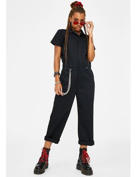 High Skool Dropout Cargo Jumpsuit by Current Mood