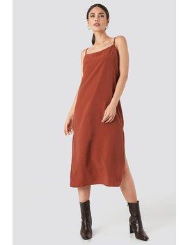 Tencel Maxi Dress Red by Beyyoglu