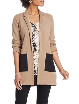 Contrast Pocket Knit Blazer by Nic+Zoe
