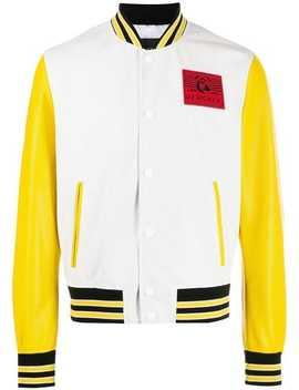 Logo Patch Varsity Style Jacket by Versace