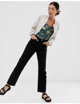 Monki Imko Straight Leg Jeans With Organic Cotton In Black by Monki