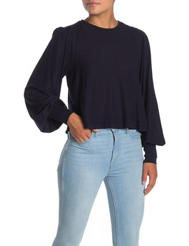 Billie Ribbed Blouson Sleeve Top by Free People