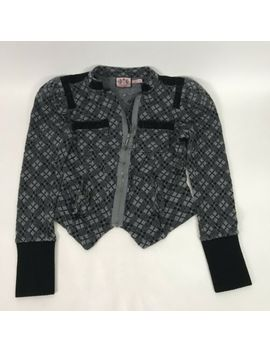 Juicy Couture Womens Cardigan Cropped Long Sleeve Pockets Full Zip Wool Size S by Juicy Couture