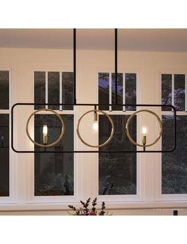 """Luxury Modern Chandelier, 12.75\""""H X 40\""""W, With Vintage Style, Olde Bronze Finish By Urban Ambiance by Urban Ambiance"""