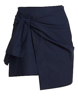 Tie Mini Wrap Skirt by Derek Lam 10 Crosby