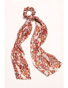 Printed Pleated Scarf Pony by Free People