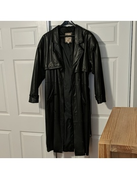 Luciano Leather Full Length Trench Coat by Luciano