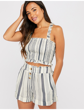 Woven Stripe Shorts by Accessorize