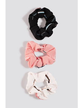 Retro Patterned Scrunchies (3 Pack) Mehrfarbig by Na Kd Accessories