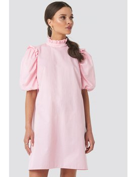 Puff Sleeve Mini Dress Pink by Emiliebritingxnakd