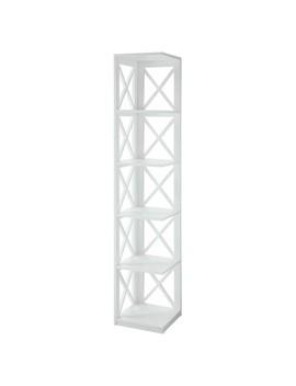 """Decorative Bookshelf 63.75"""" White   Convenience Concepts® by Convenience Concepts®"""