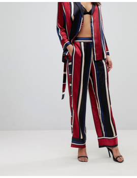 Y.A.S Striped Wide Leg Pants by Y.A.S.