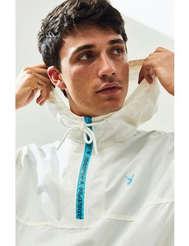 Pac Sun X Playboy White Technical Quarter Zip Anorak by Pacsun