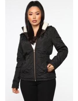 Quit Tripping Quilted Jacket   Black by Fashion Nova