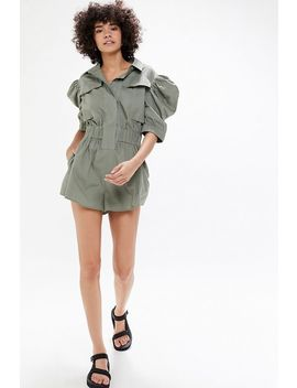 C/Meo Collective Perennial Puff Sleeve Romper by C/Meo Collective
